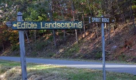 Edible landscaping signs